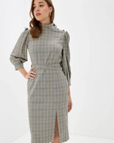 Платье серое прямое Ksenia Knyazeva