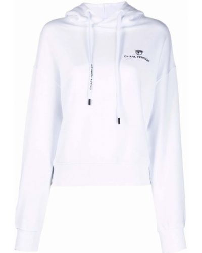Белое худи с логотипом Chiara Ferragni