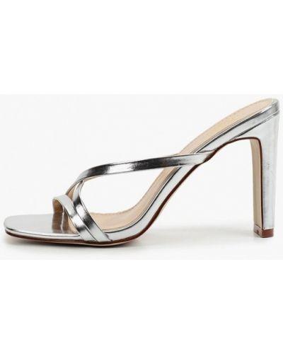 Кожаные сабо - серебряные Diora.rim