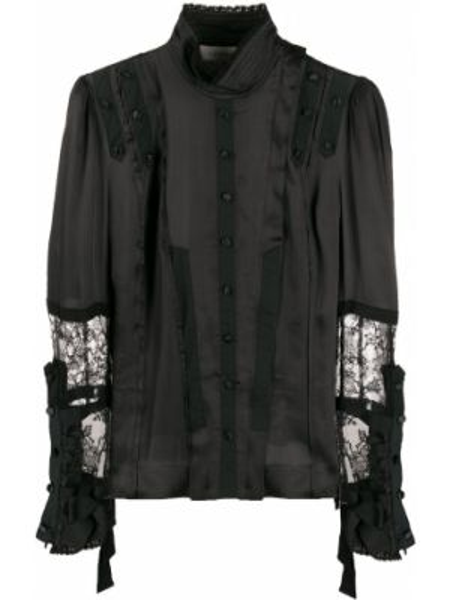 Кружевная блузка - черная A.f.vandevorst