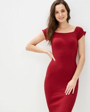 Платье бордовый вязаное Knitman