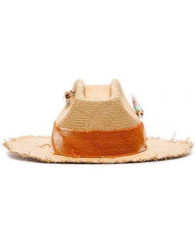 Бежевая шляпа соломенная Nick Fouquet