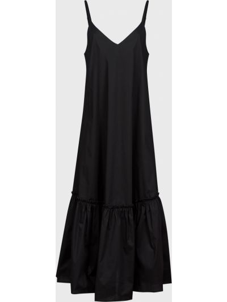 Хлопковое черное платье Kontatto