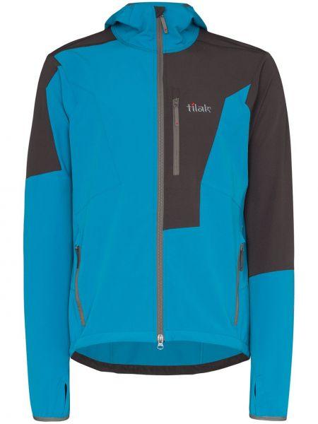 Niebieska kurtka softshell z kapturem Tilak