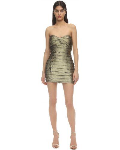 Плиссированное платье на молнии без бретелек с вырезом For Love & Lemons