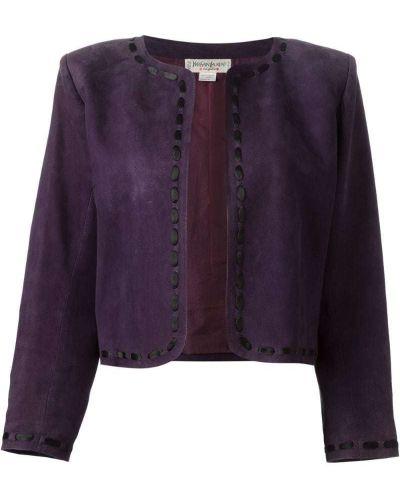 Пиджак замшевый фиолетовый Yves Saint Laurent Vintage