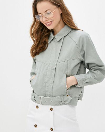 Зеленая джинсовая куртка Love Republic
