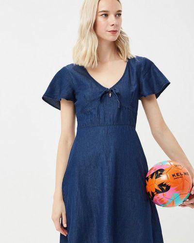 Синее платье джинсовое Warehouse