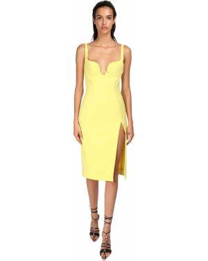 Платье миди - желтое Mugler