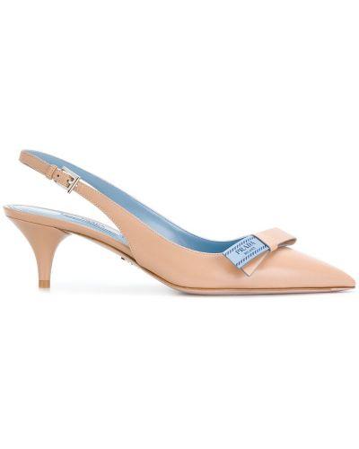 Туфли-лодочки с ремешком с открытой пяткой с бантом Prada
