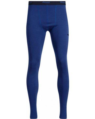 Синие шерстяные колготки Bergans