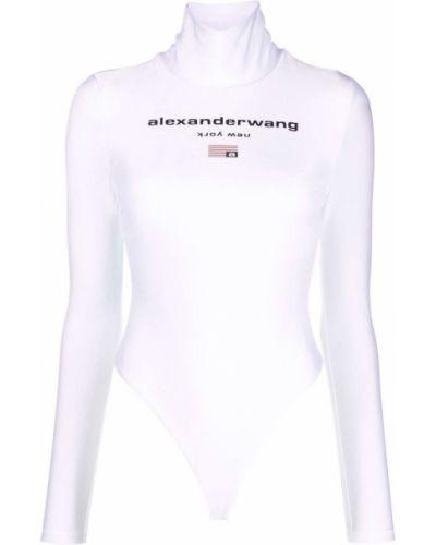 Белое боди длинное Alexanderwang.t