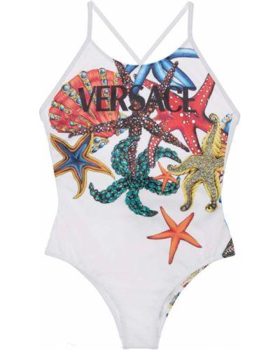 Белый купальник на бретелях Versace
