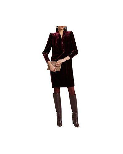 Бордовое коктейльное платье Luisa Spagnoli