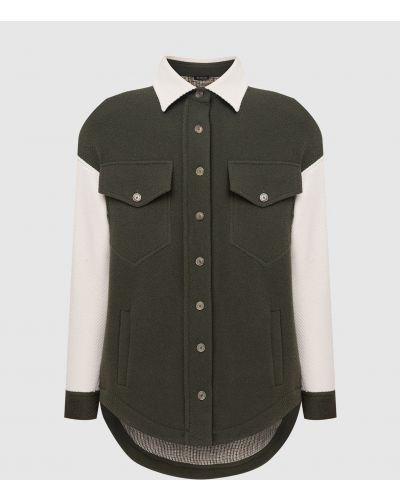 Шерстяная куртка - зеленая Kiton