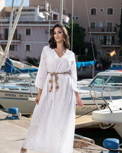 Платье макси длинное - белое Fresh Cotton
