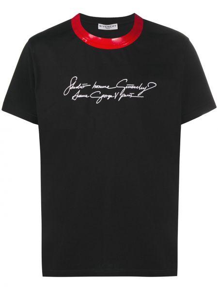 Bawełna czarny koszula z krótkim rękawem okrągły dekolt krótkie rękawy Givenchy