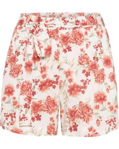 Бежевые брюки в цветочный принт Bonprix