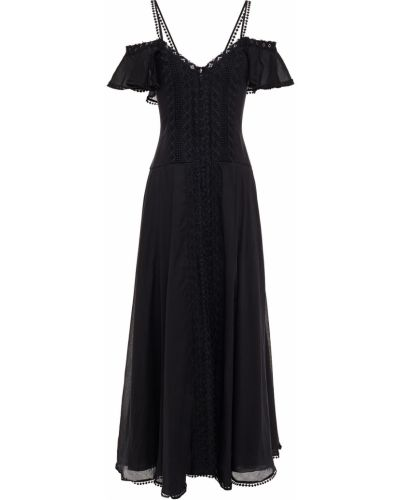 Хлопковое платье макси - черное Charo Ruiz Ibiza