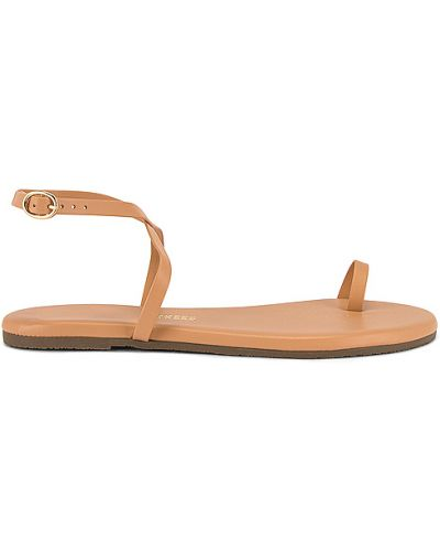 Światło biznes skórzany sandały z klamrą Tkees