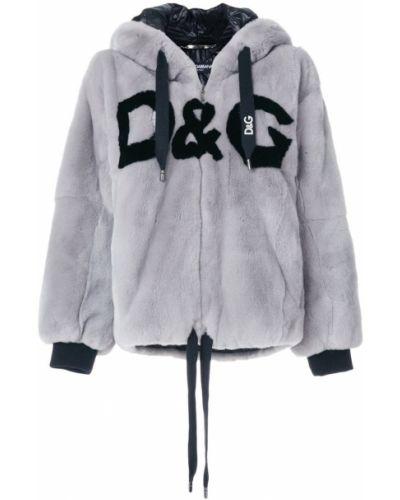 Шуба с капюшоном из кролика Dolce & Gabbana