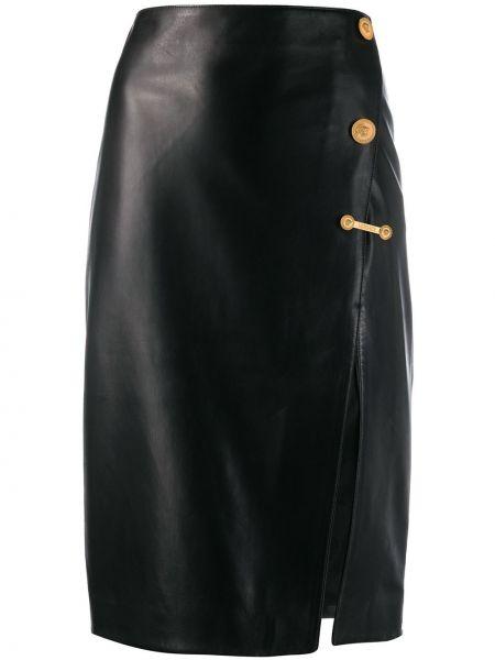 Юбка миди с завышенной талией с вырезом Versace