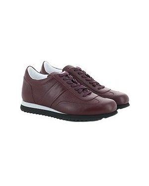 Кожаные красные кроссовки Pellettieri Di  Parma