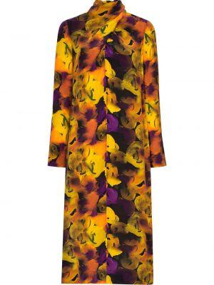 Платье миди с запахом с цветочным принтом Ganni