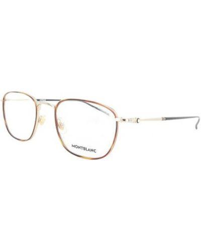 Brązowe okulary Montblanc