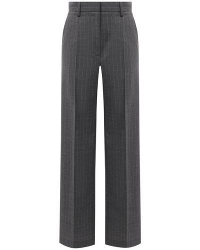 Шерстяные серые брюки Mm6