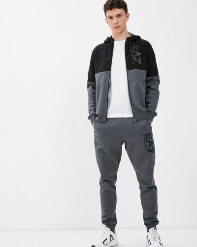 Серый спортивный спортивный костюм Ea7