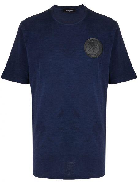 Koszula krótkie z krótkim rękawem z logo z łatami Dsquared2