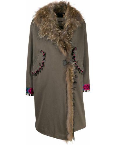 Пальто без воротника с запахом Bazar Deluxe