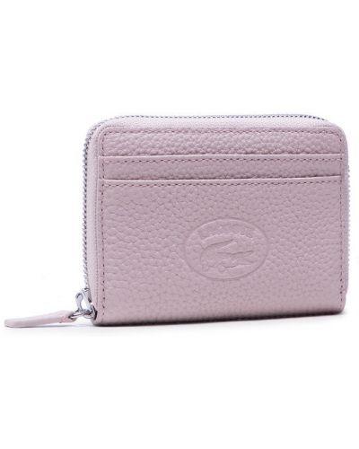 Różowy portfel Lacoste