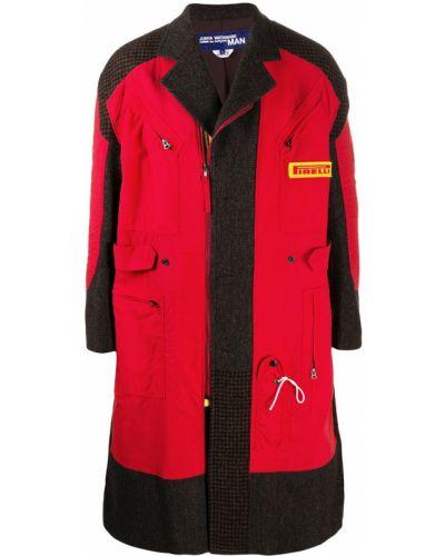 Prosto z rękawami płaszcz przeciwdeszczowy z kieszeniami od płaszcza przeciwdeszczowego Junya Watanabe Man