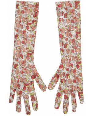 Перчатки ажурные с вышивкой Collina Strada