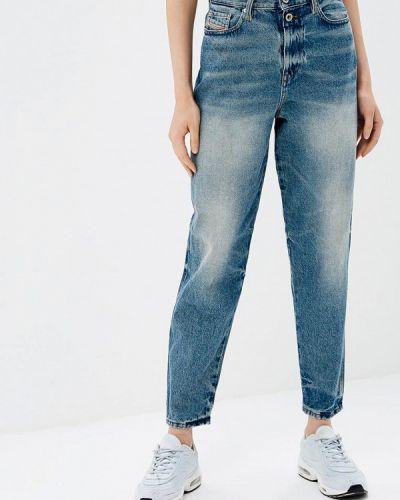 Голубые джинсы с высокой посадкой Diesel
