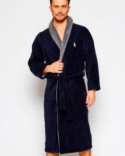Синий домашний халат Polo Ralph Lauren