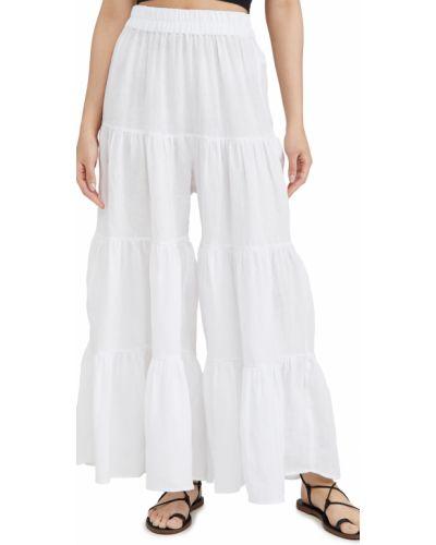 Lniane lniane spodnie - białe Mara Hoffman