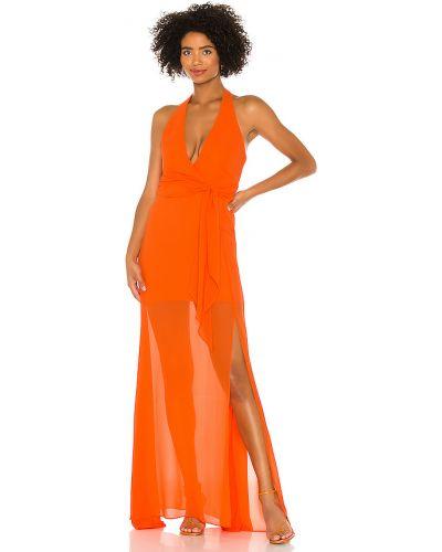Pomarańczowa sukienka z szyfonu Nbd