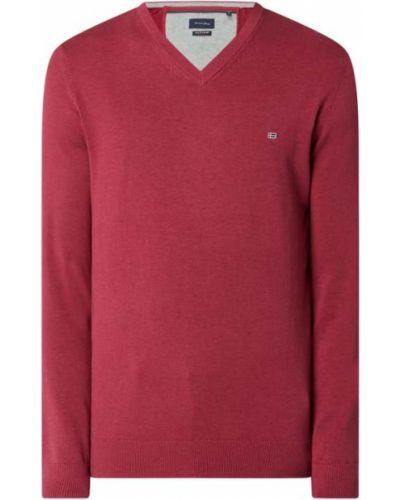 Sweter z dekoltem w serek - różowy Christian Berg Men