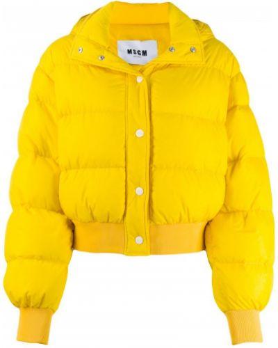 Длинная куртка жёлтая Msgm