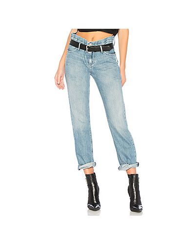 Прямые джинсы mom синие Rta