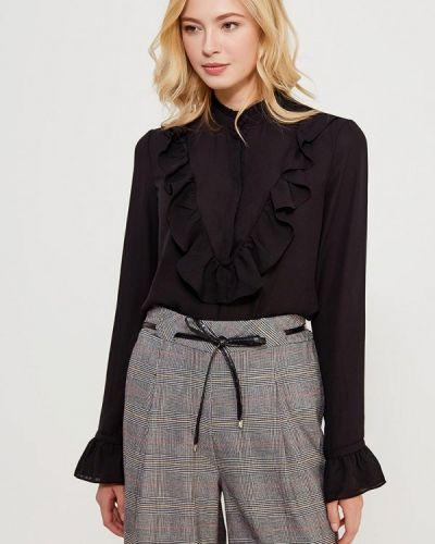 Черная блузка с рюшами Befree