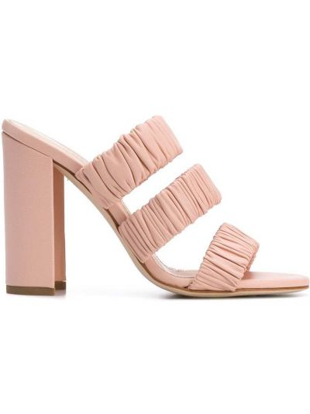 Массивные открытые розовые босоножки на высоком каблуке на каблуке Chloe Gosselin