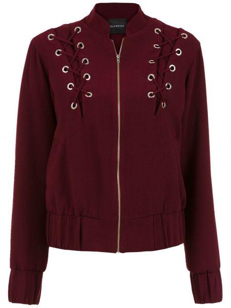 Красная длинная куртка Olympiah