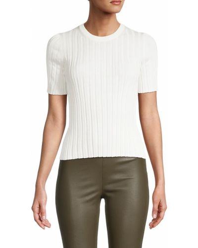 Koszulka prążkowana - biała Helmut Lang