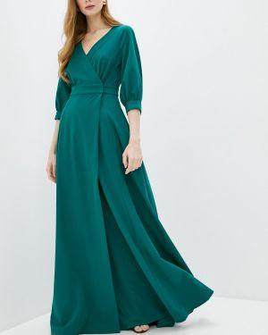 Вечернее платье осеннее зеленый Zerkala