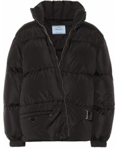 Утепленная куртка черная Prada