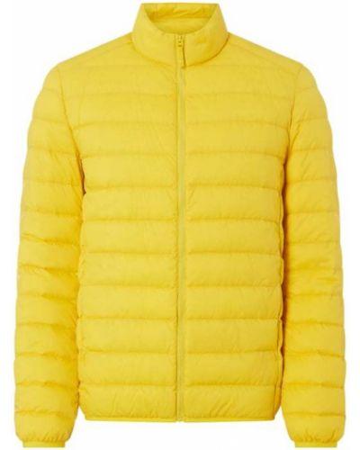 Żółta kurtka pikowana z nylonu Mcneal